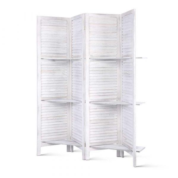 4 Panel Wood Divider Screen